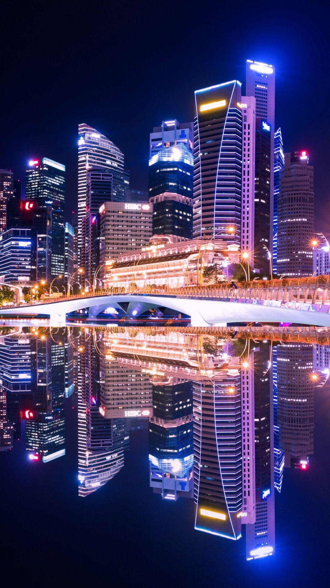 Skyscrapers Night Photo
