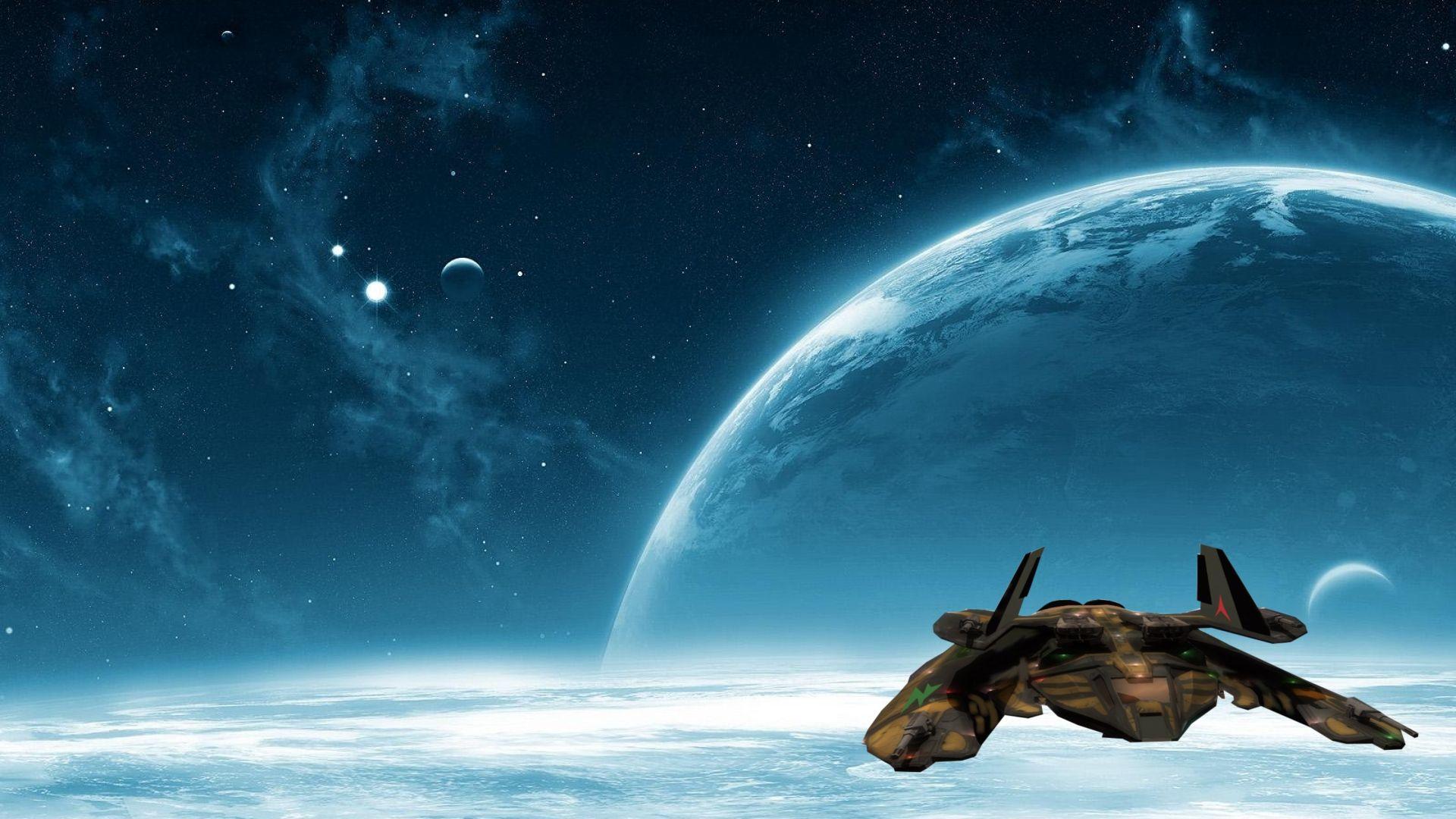 Spaceship Wallpaper
