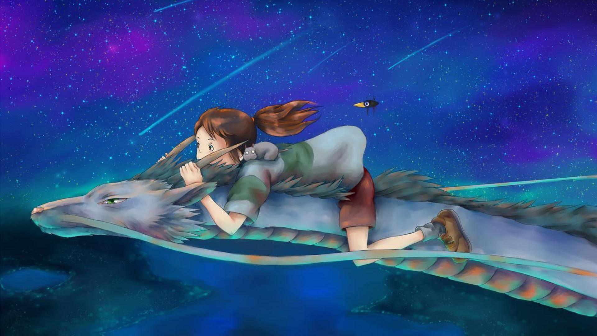 Spirited Away Dragon And Chihiro
