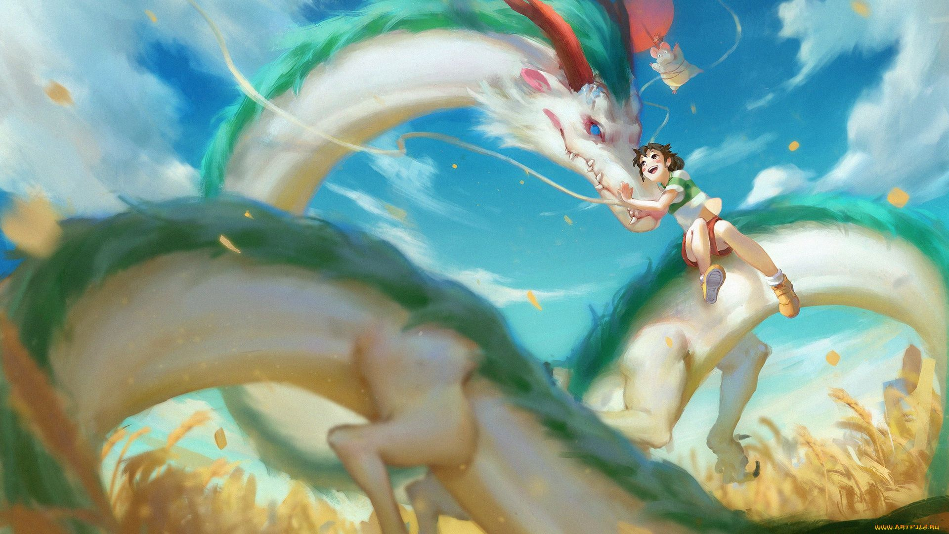 Spirited Away The Dragon And The Girl