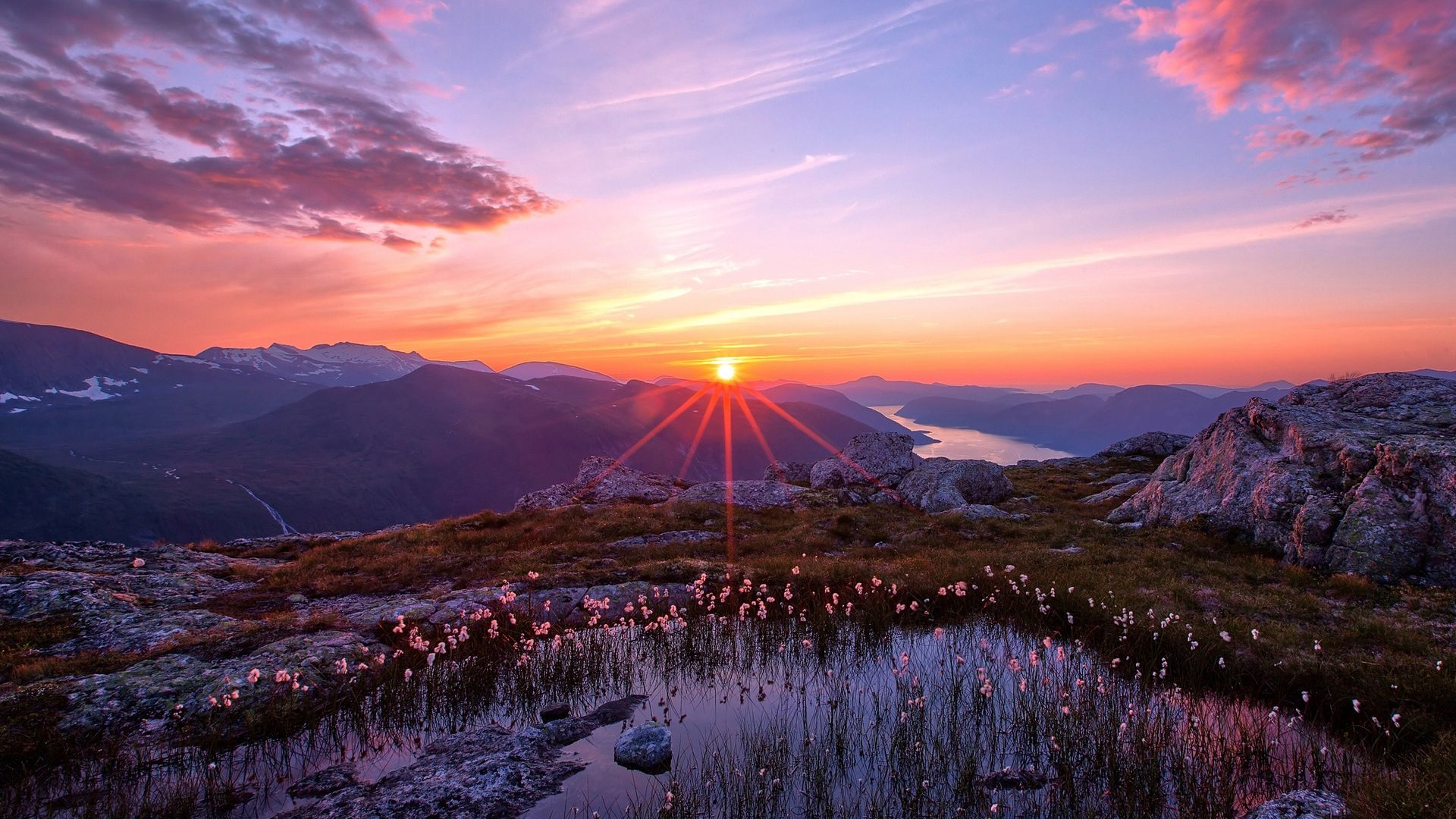 Sunset In The Mountains Images