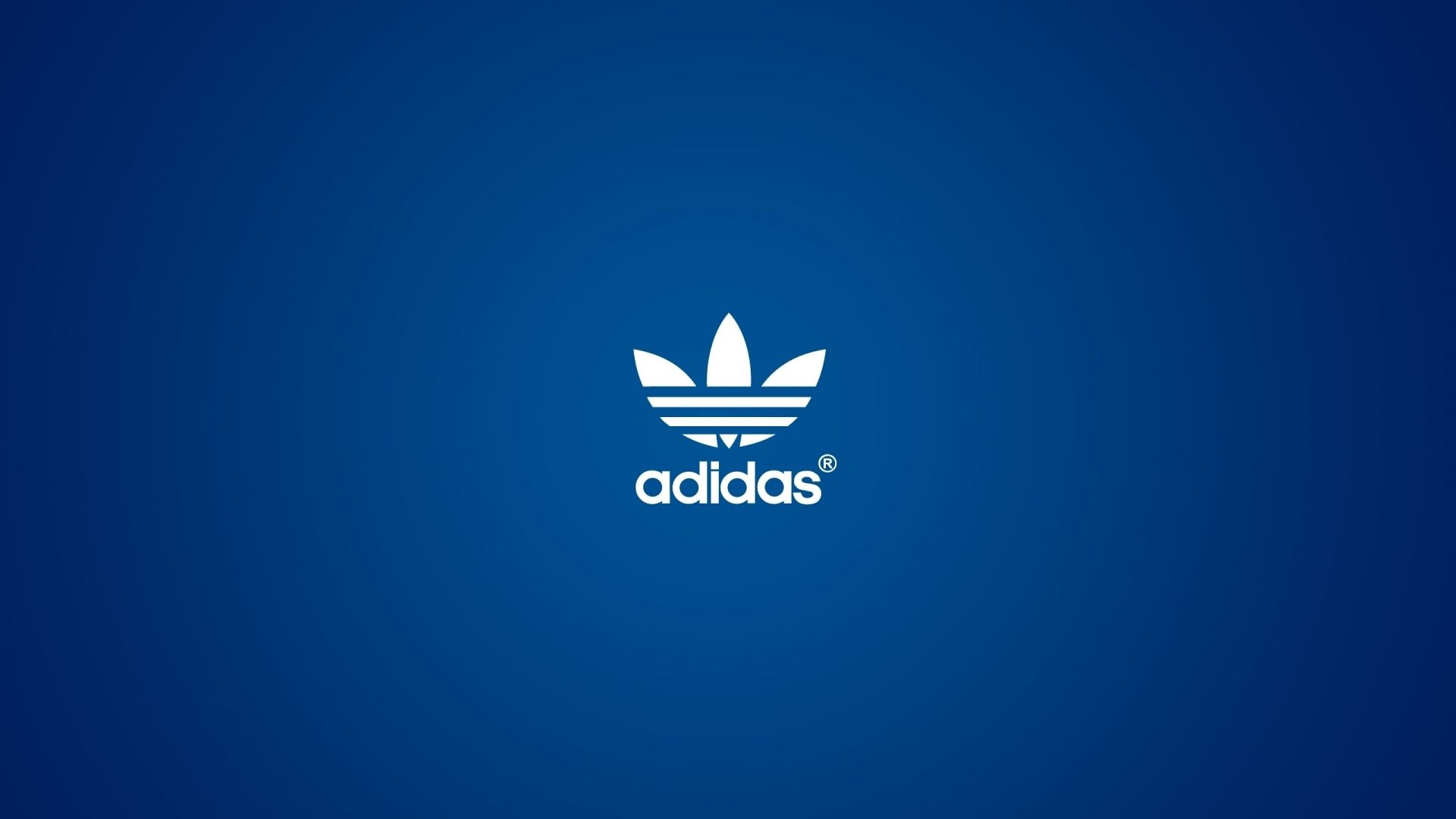 The Adidas Logo On A Blue Background