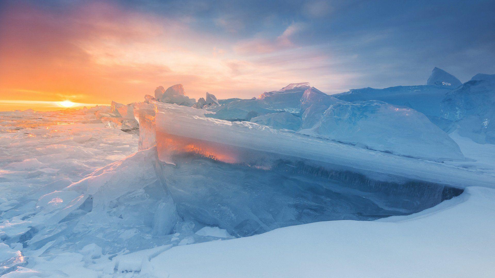 The Baikal Winter Ice