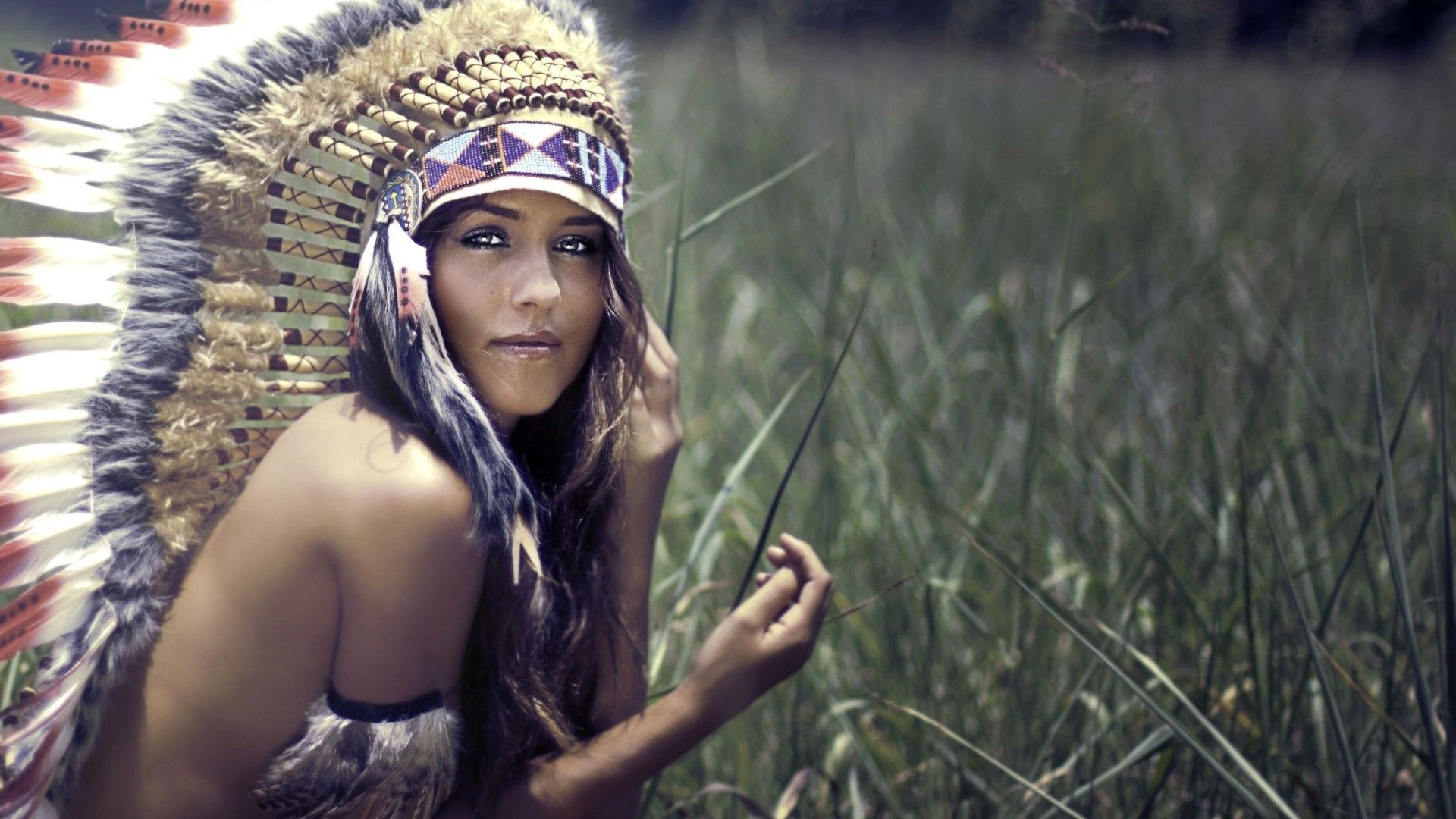 The Indian Feathers On The Head