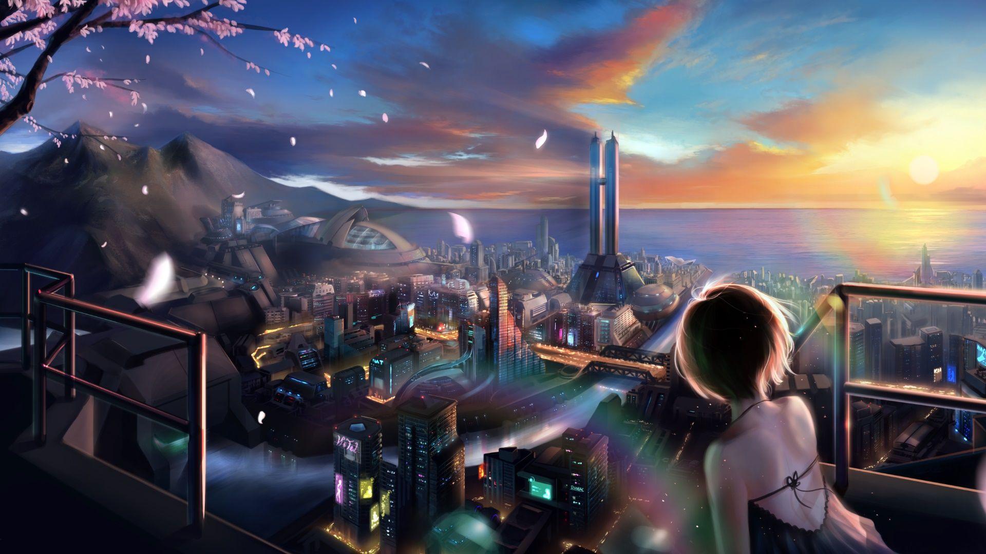 The Cyberpunk World Wallpaper Anime