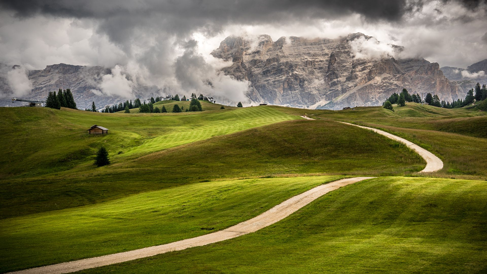 The Landscape Of Mountain And Field