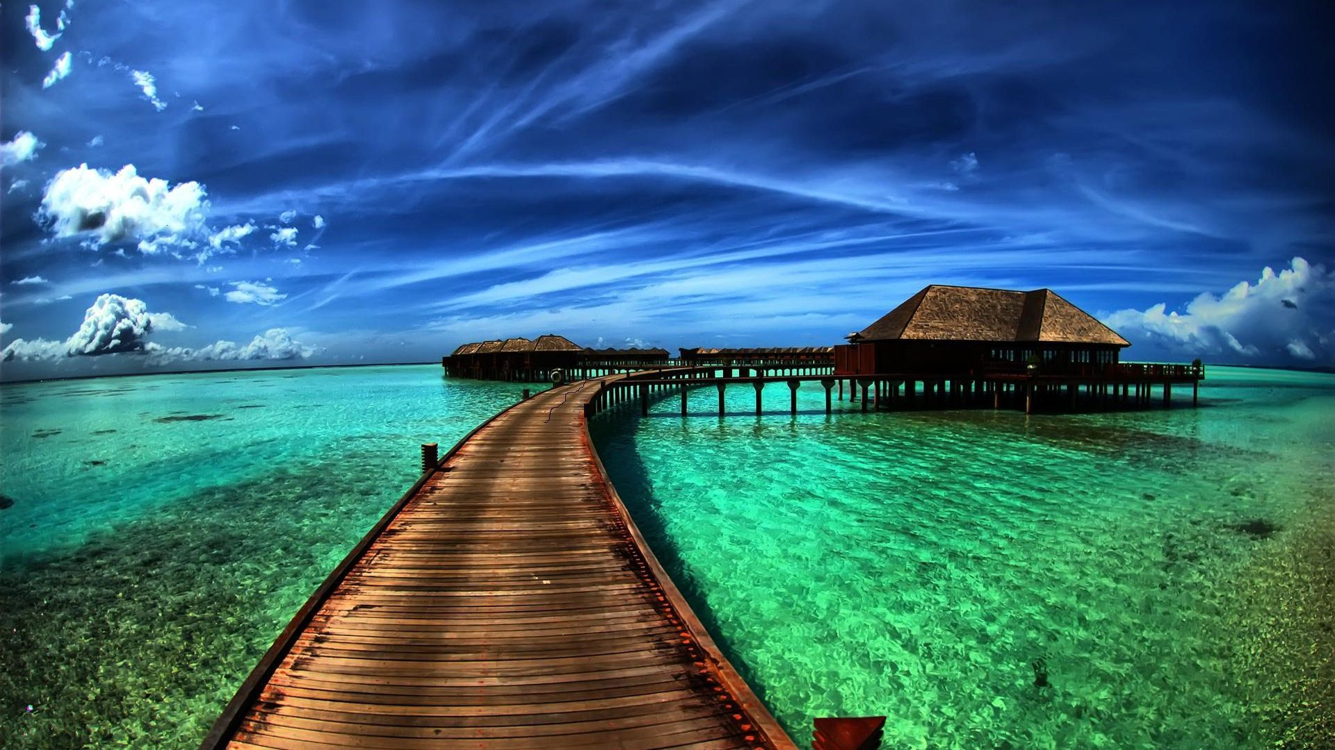 The Picture On Screensaver Pc The Maldives Island