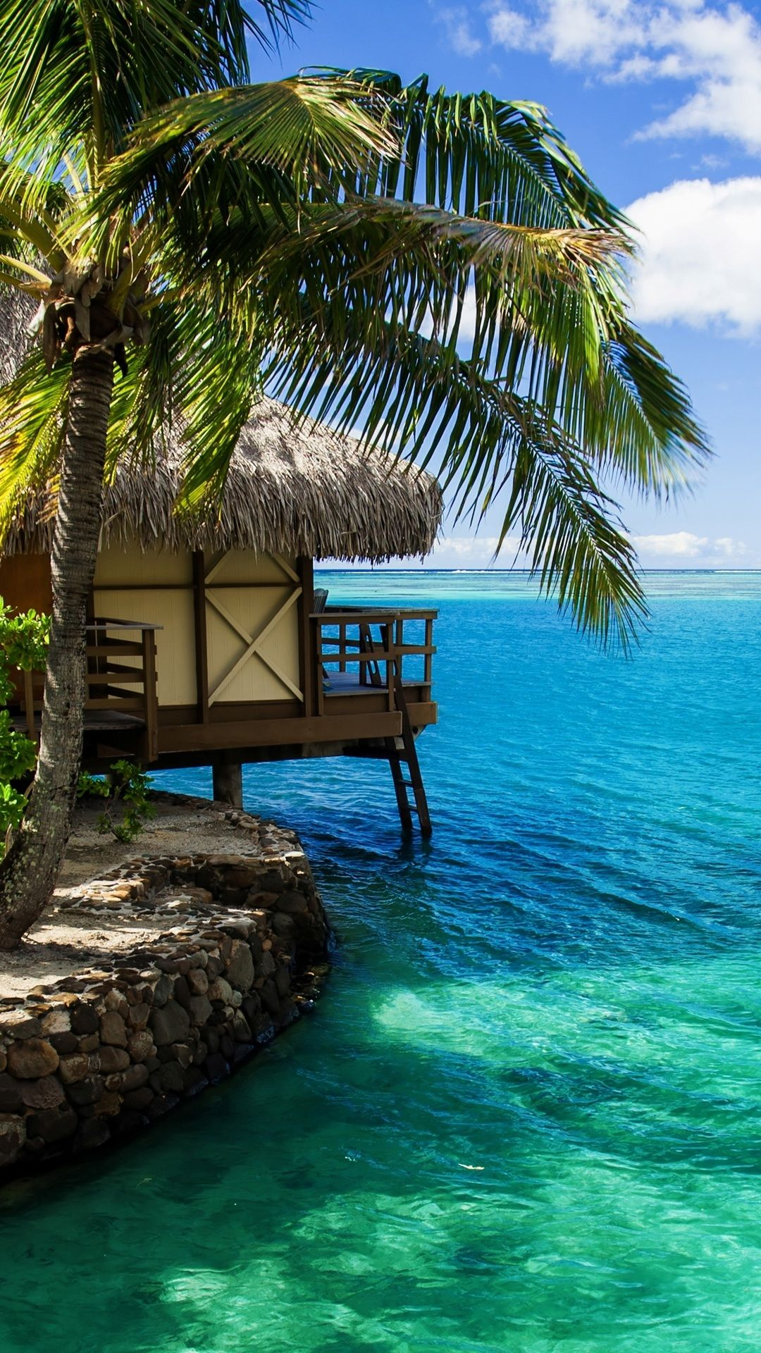 The Sea And Bungalows Pictures