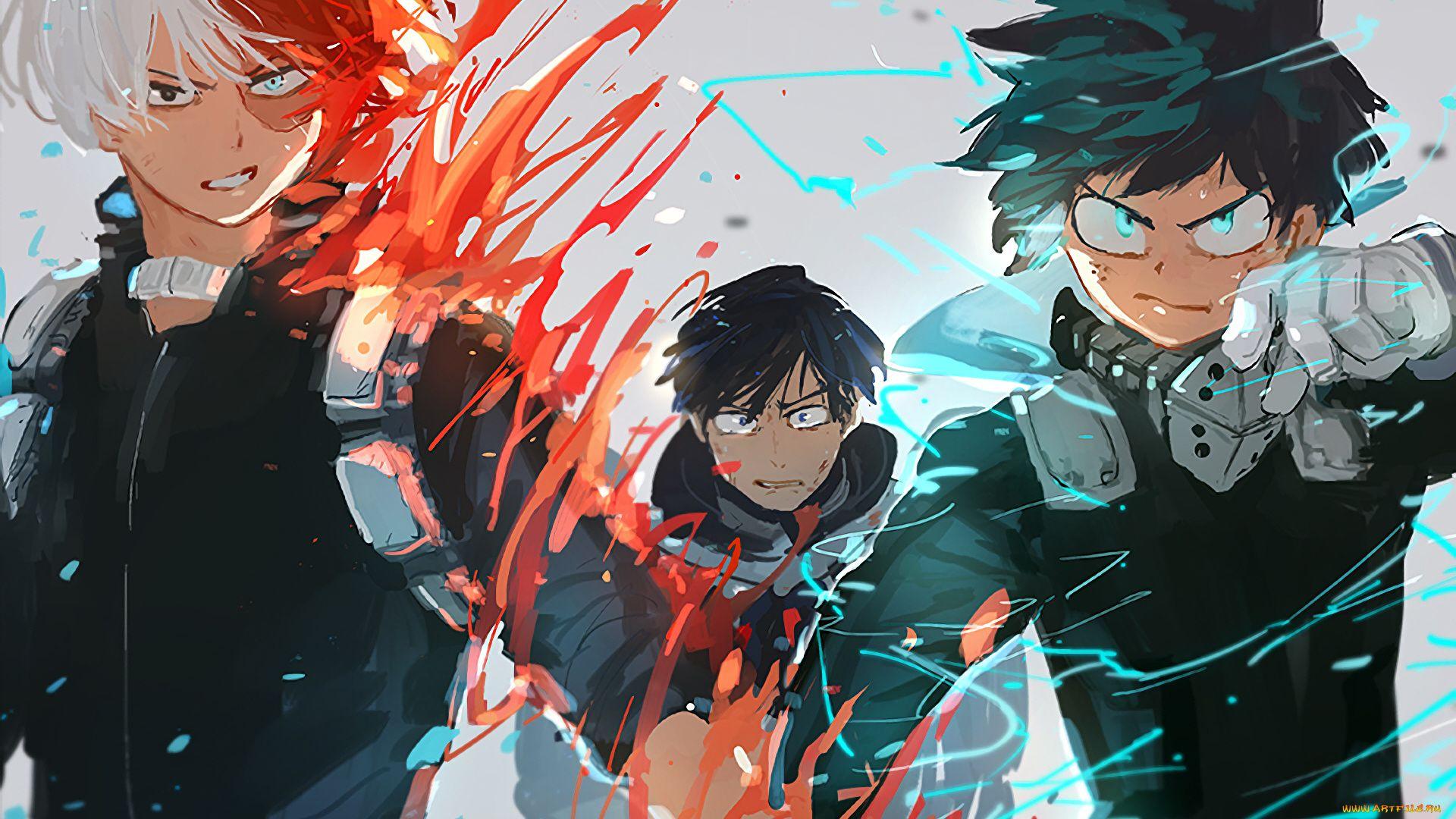 Todoroki And Midori Wallpaper Heroes
