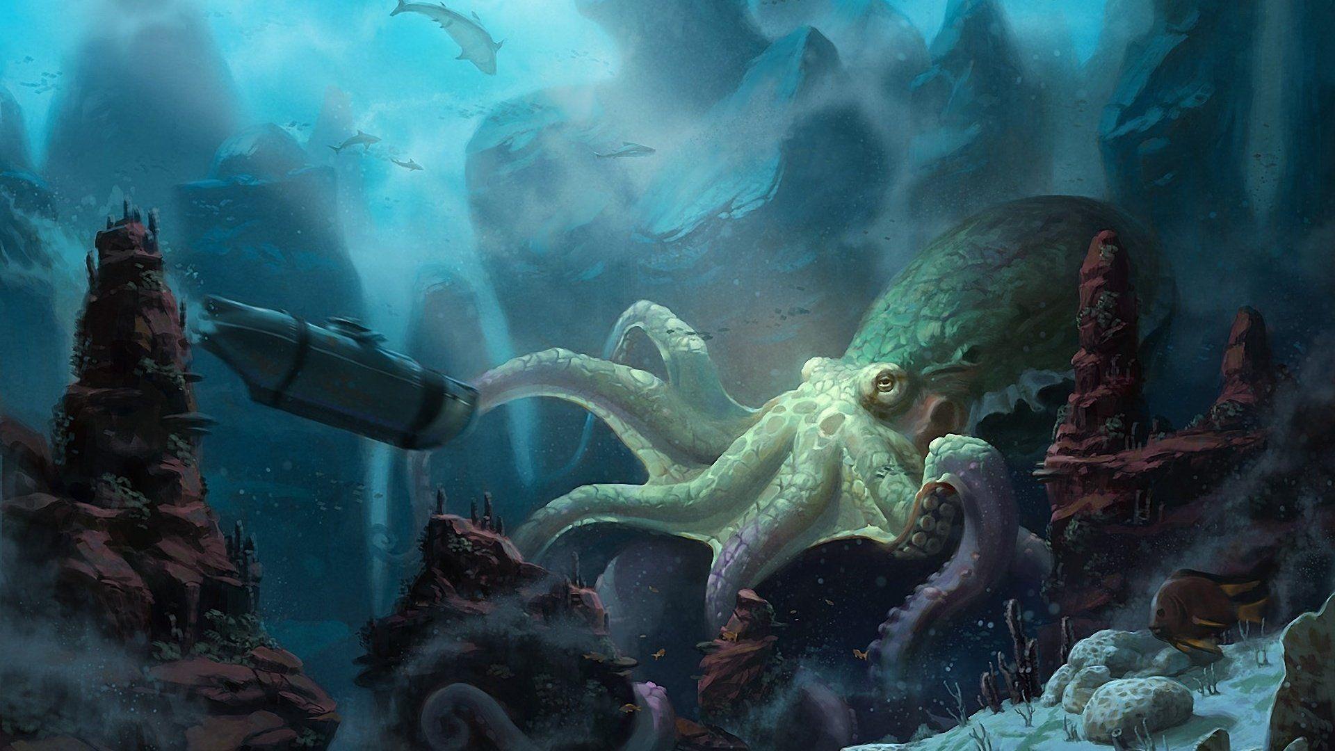 Underwater Monsters Art