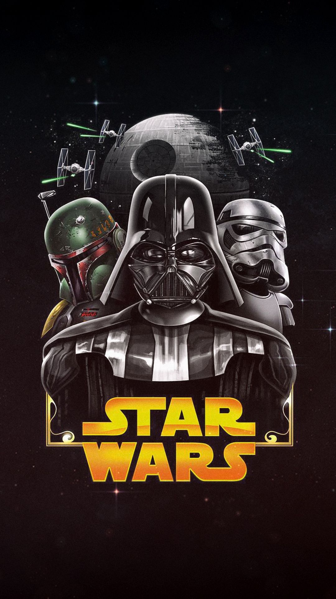 Wallpaper Iphone Stars Wars Dark Side