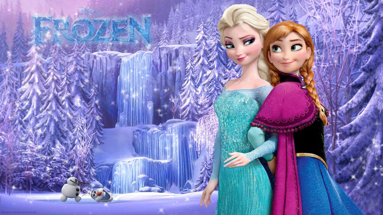 Wallpaper Elsa And Anna