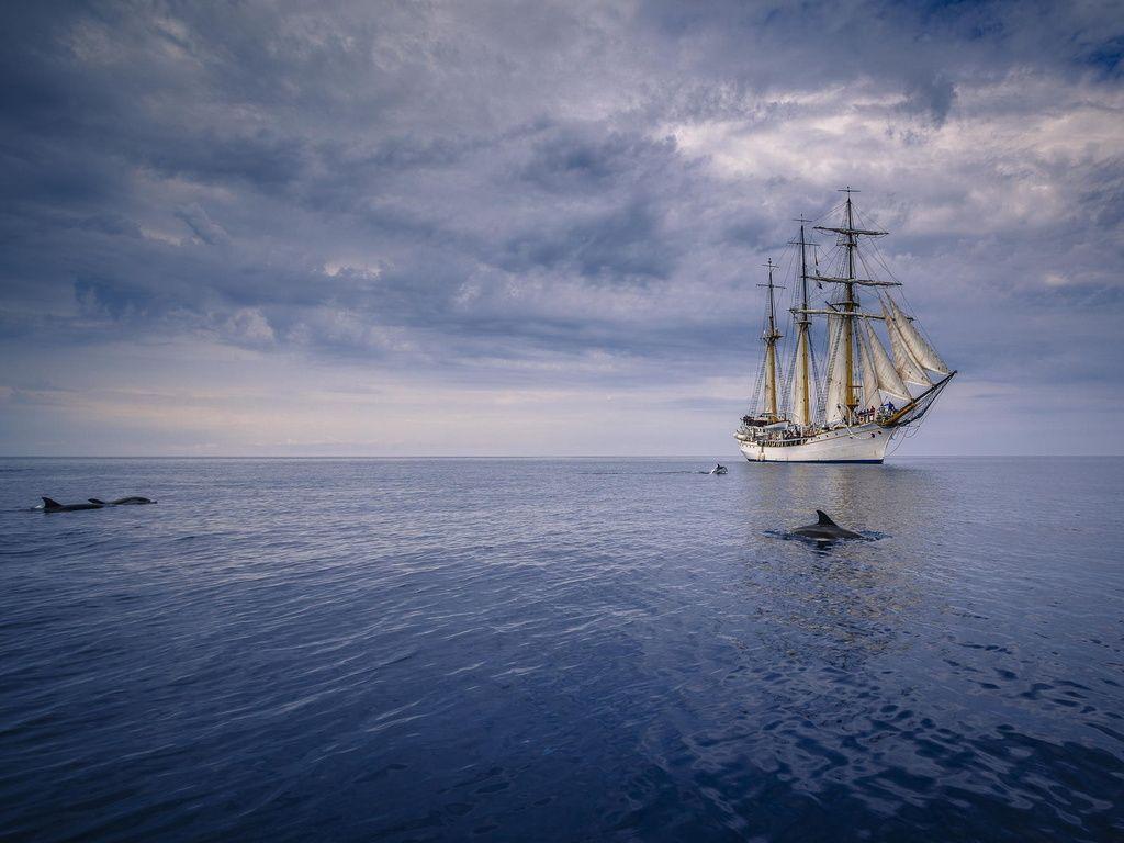 Wallpaper Ship At Sea