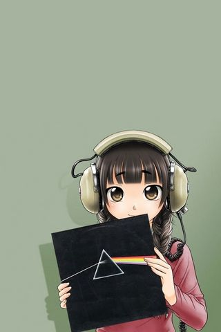 Anime Girl With Headphones