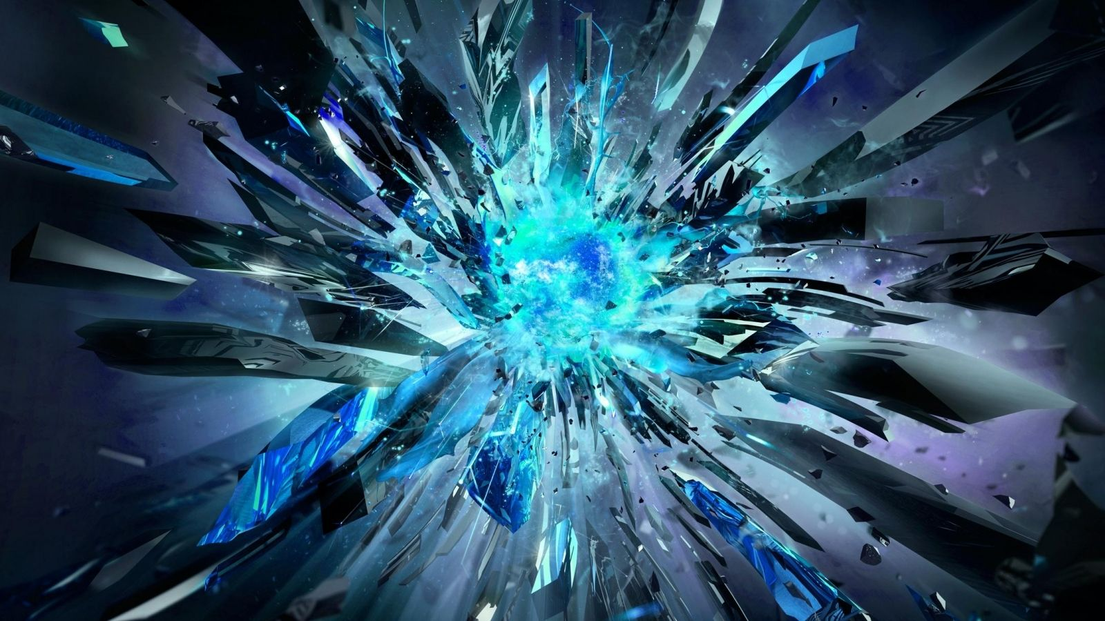 Blue Background Explosion