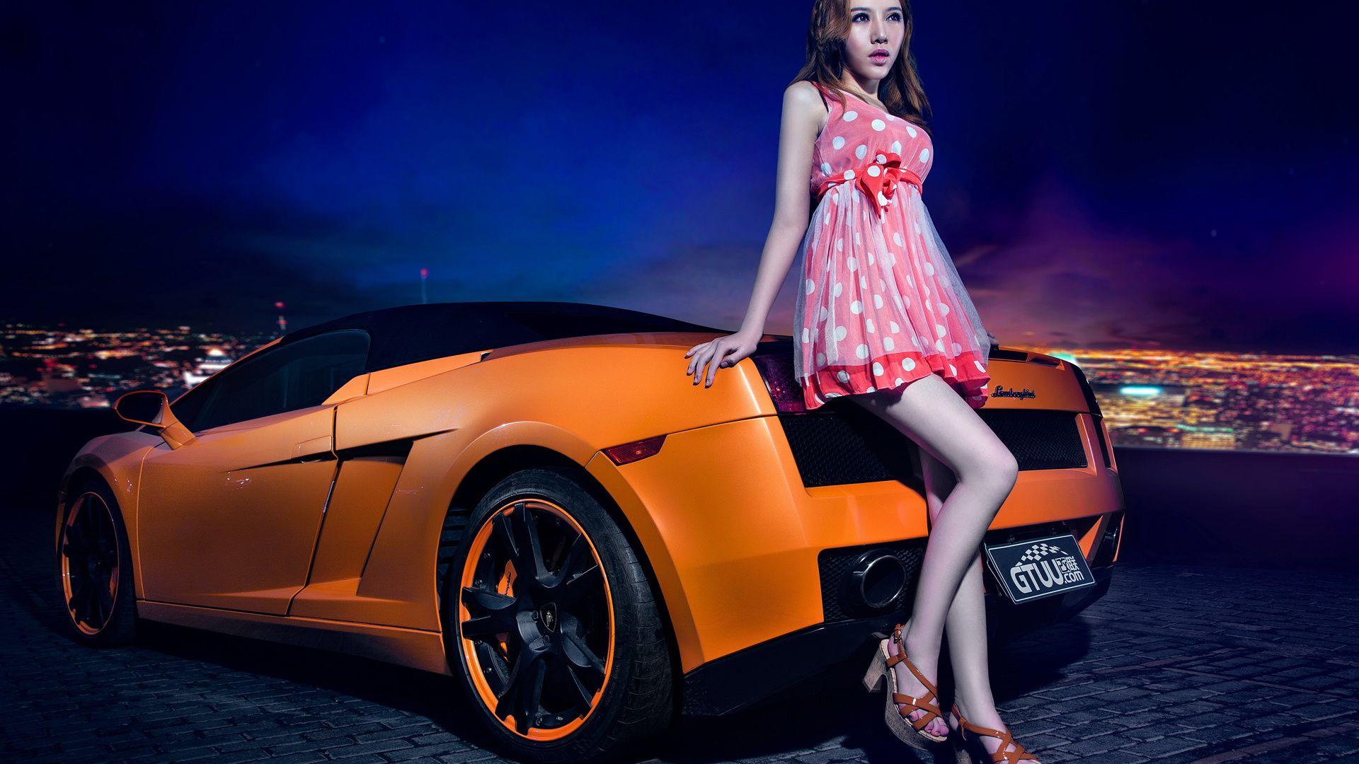Car Girl nice wallpaper