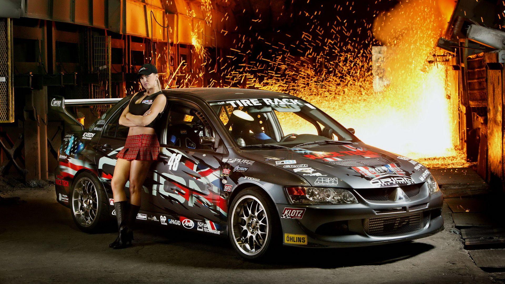 Car Girl background image