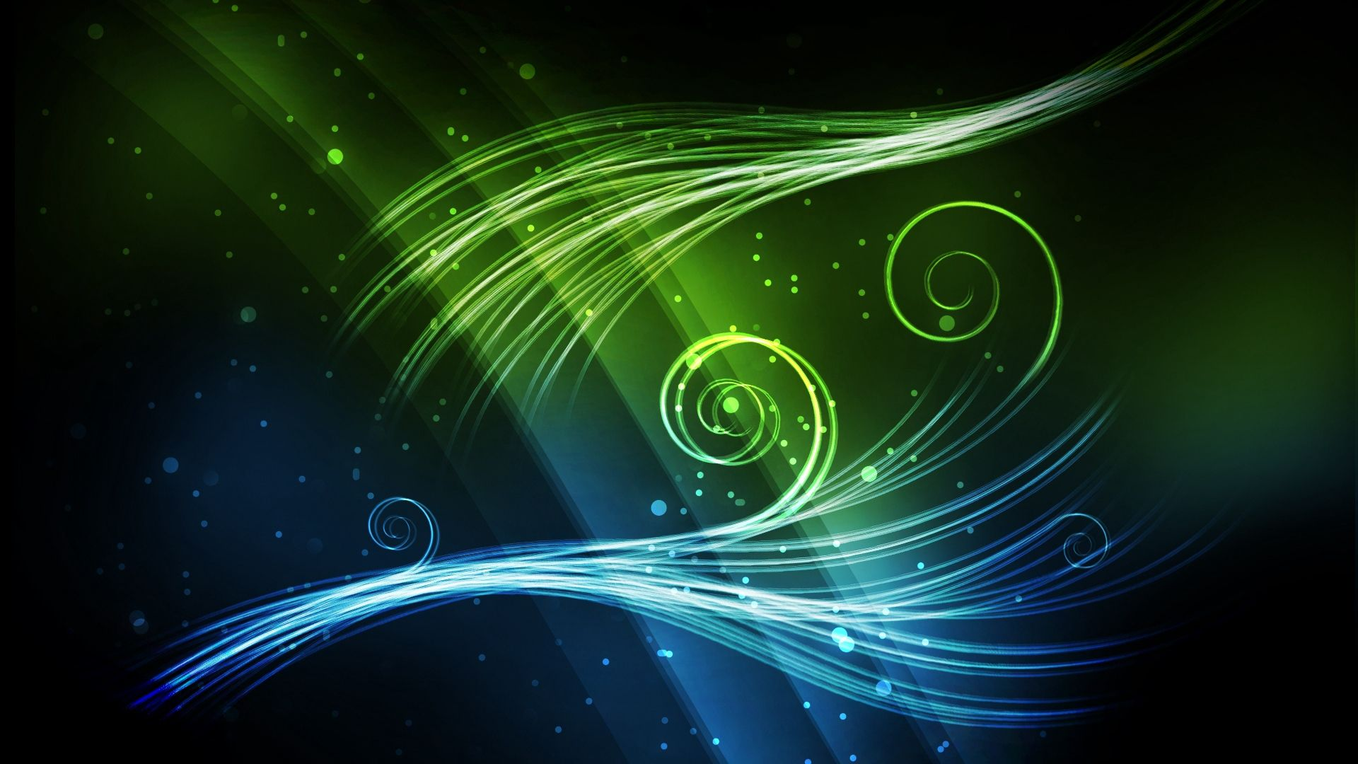 Cool Green 1080p background