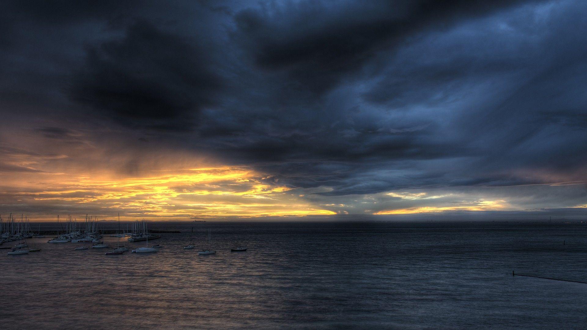 Dark Clouds 1080p background
