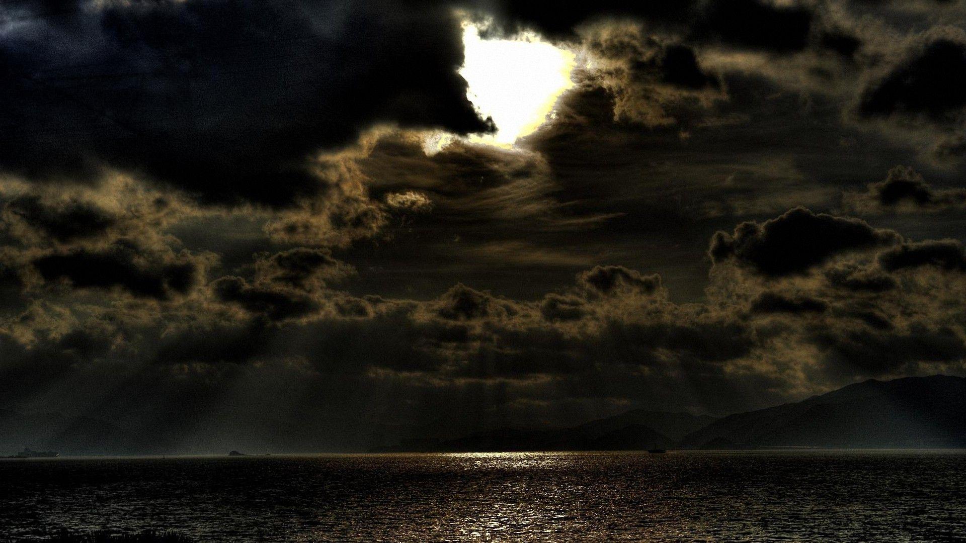 Dark Clouds computer background