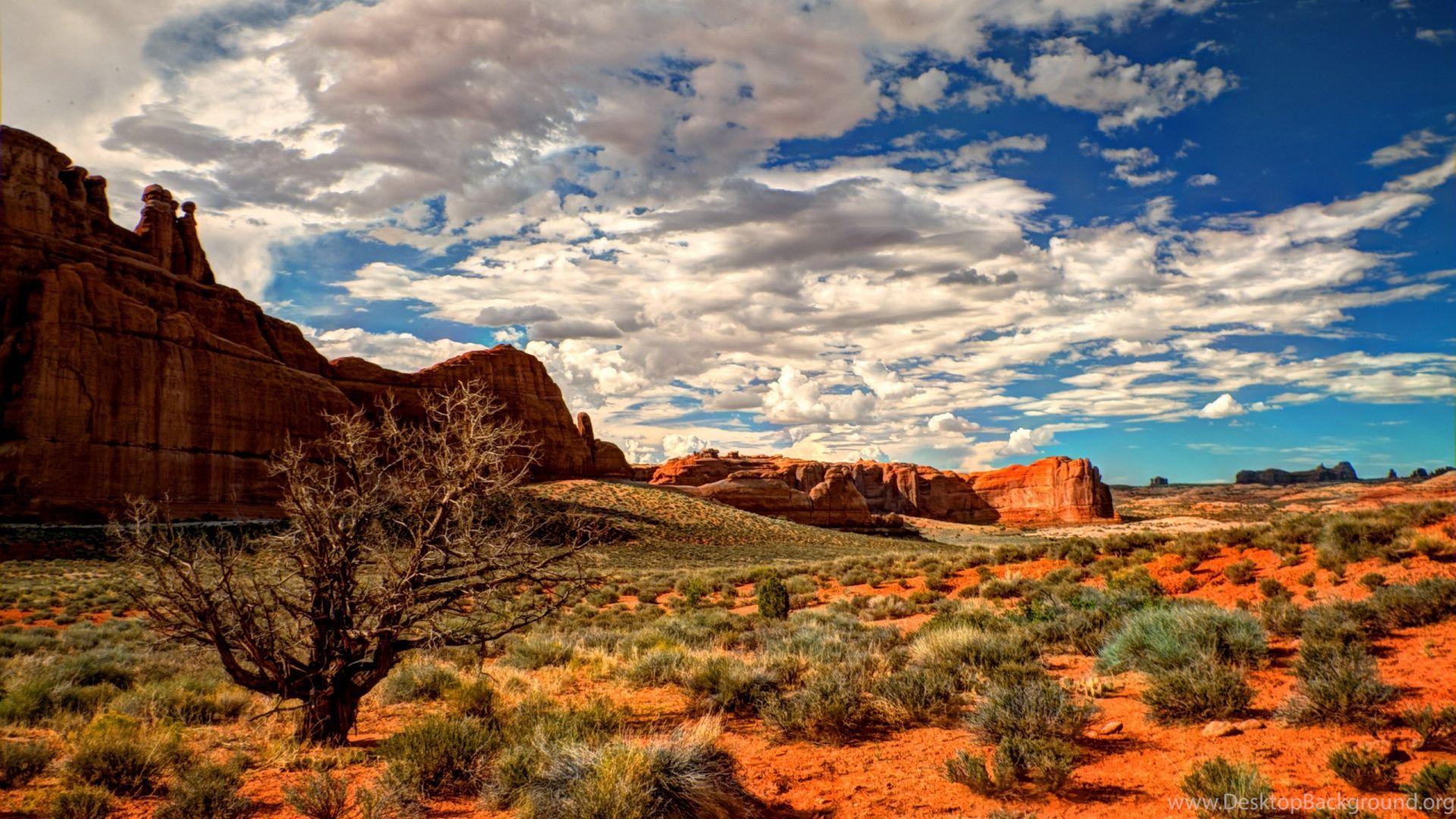 Desert Foothills Landscape background hd