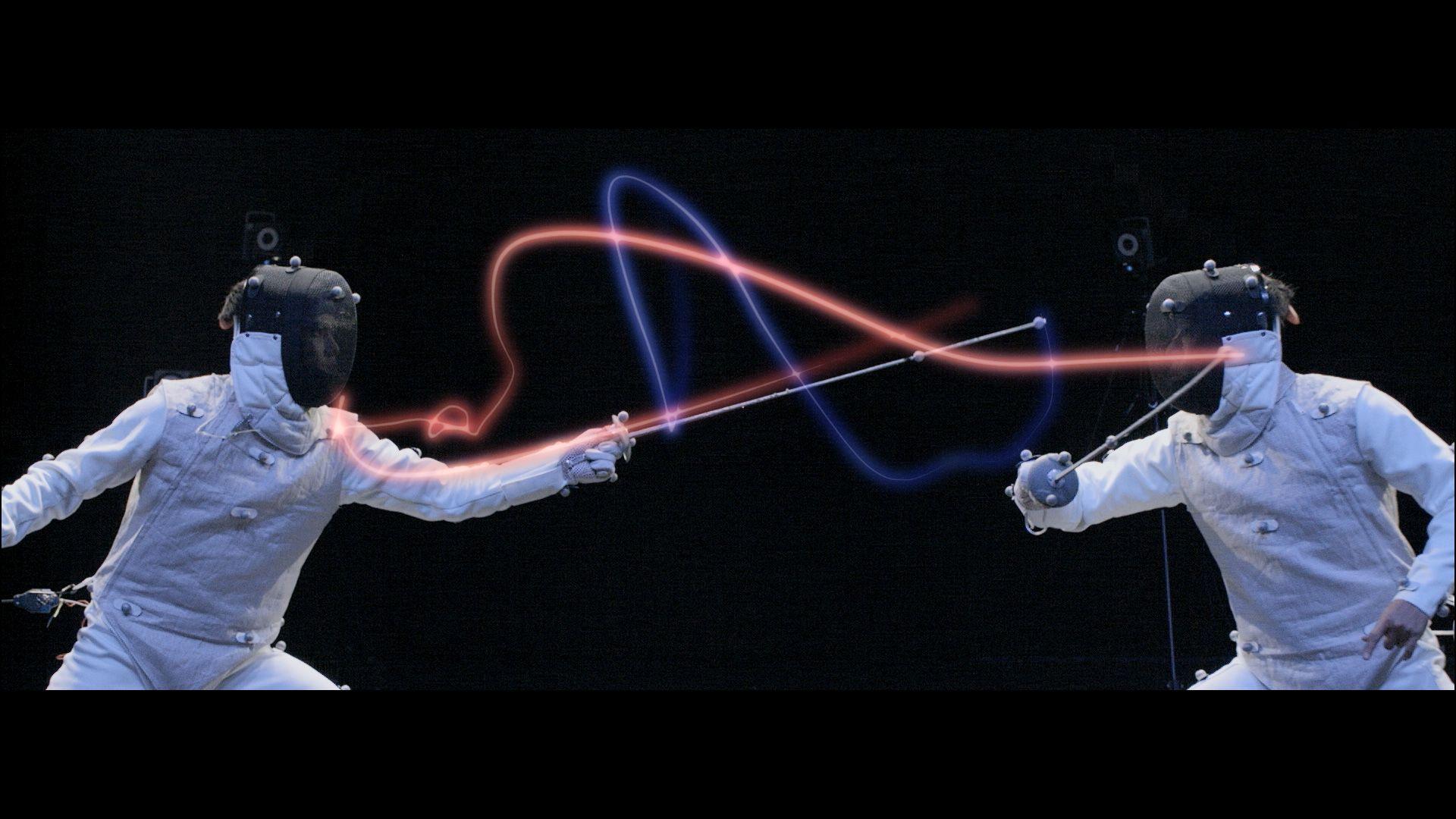 Fencing laptop wallpaper