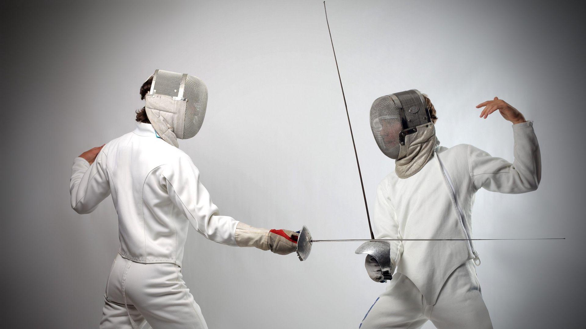 Fencing computer wallpaper