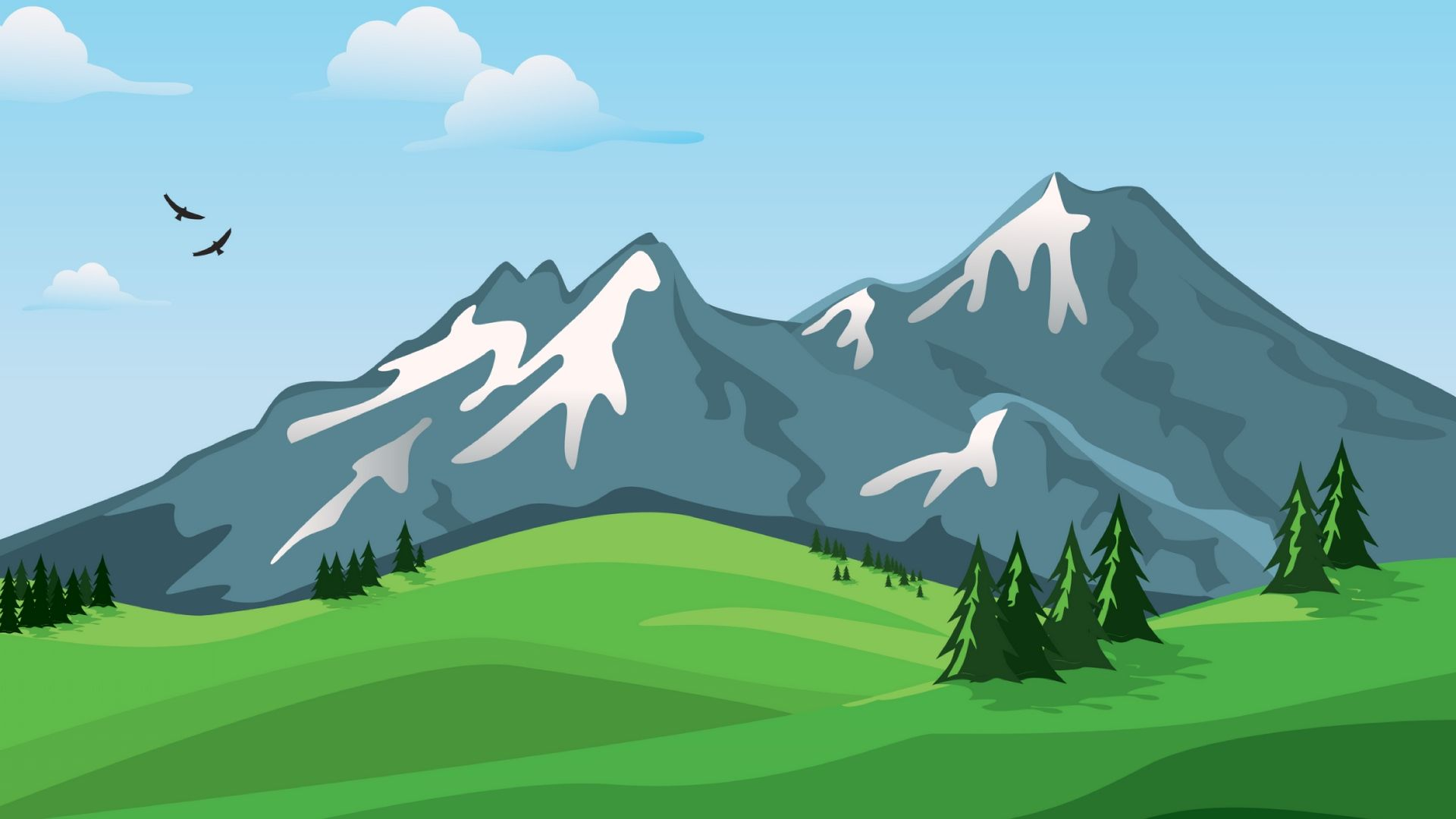 Free Mountain Vector laptop wallpaper