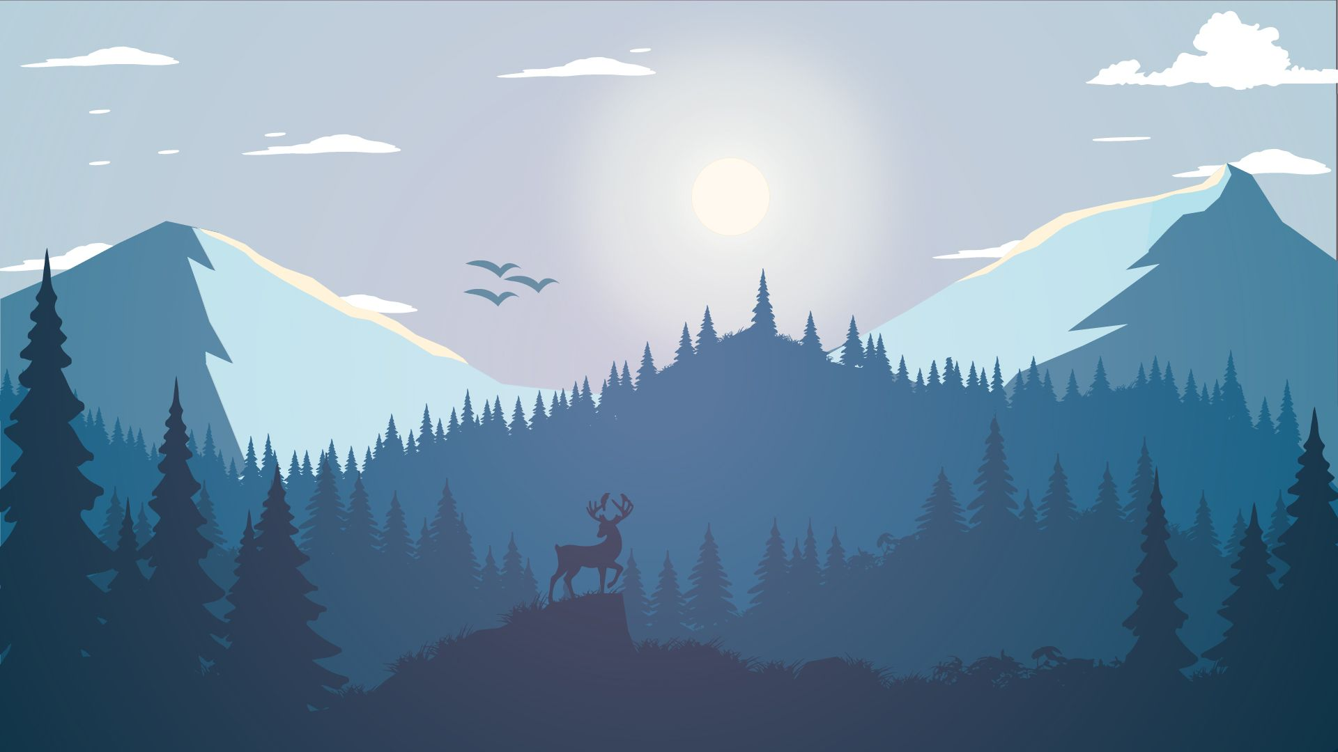 Free Mountain Vector desktop background hd