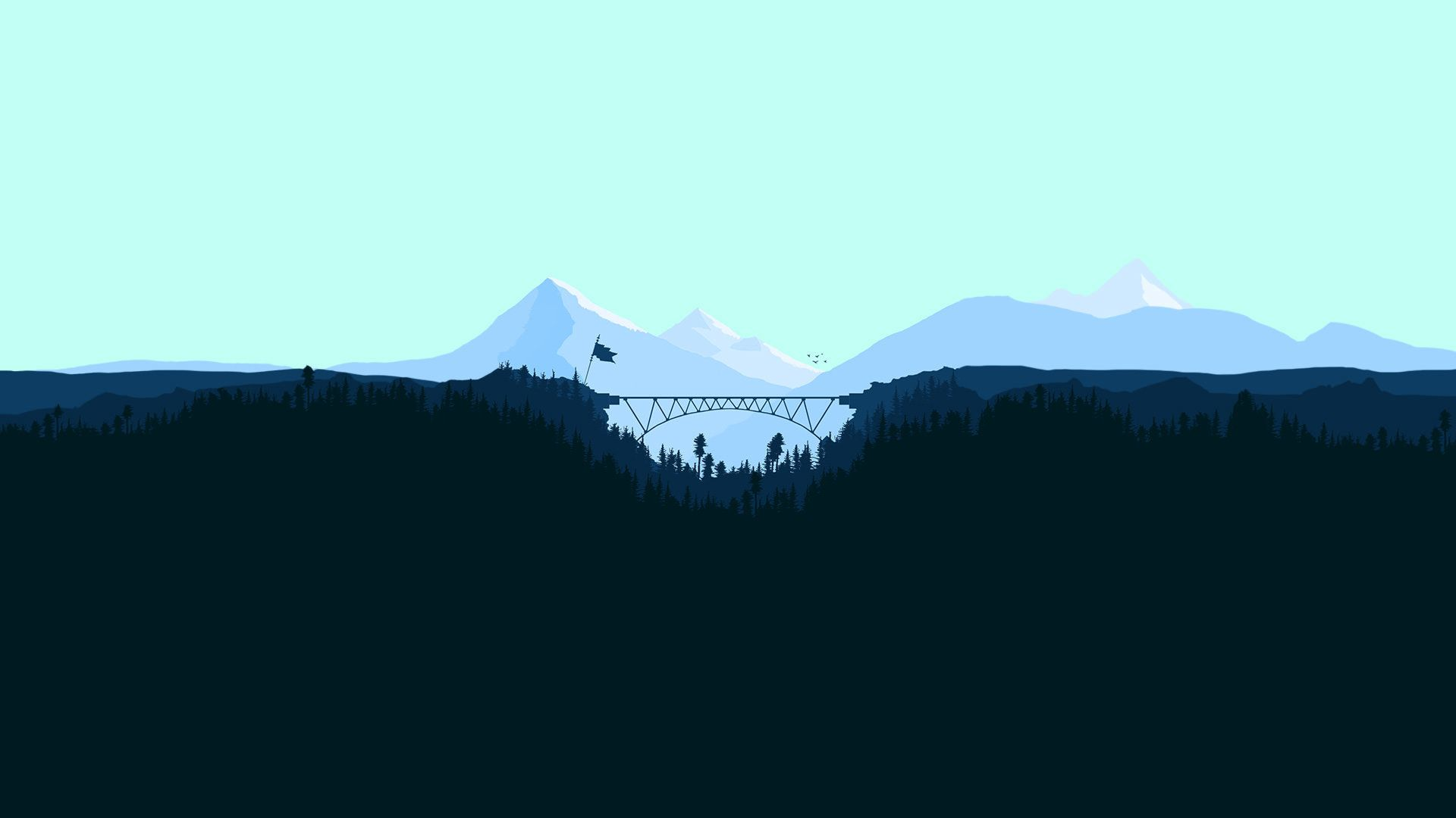 Free Mountain Vector desktop background