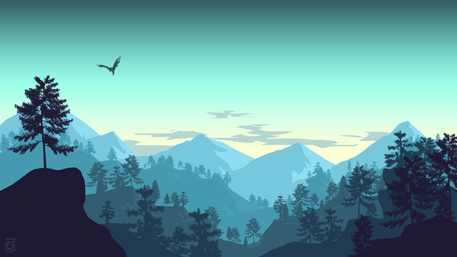 Free Mountain Vector 1080p
