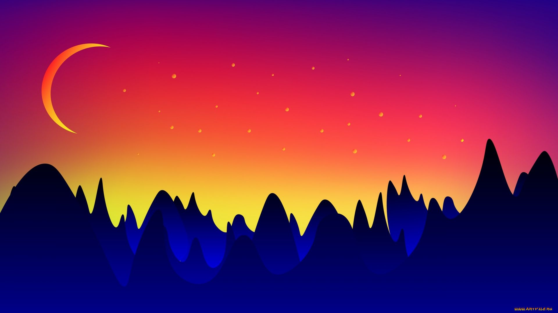 Free Mountain Vector wallpaper for pc