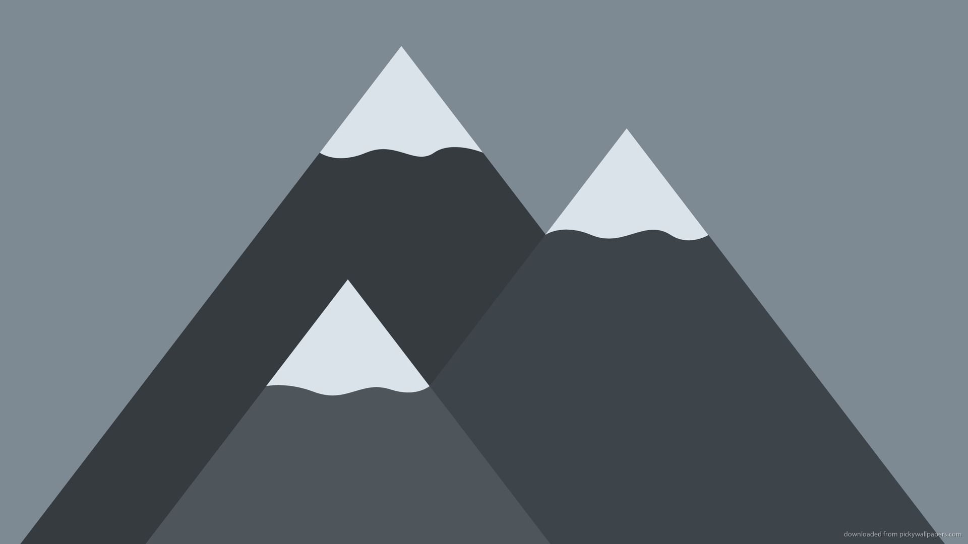 Free Mountain Vector laptop background