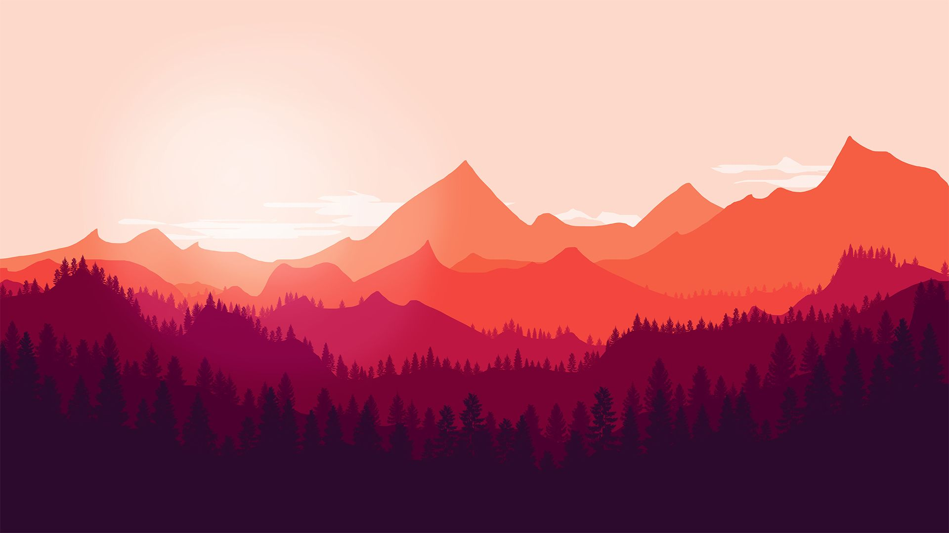 Free Mountain Vector background image