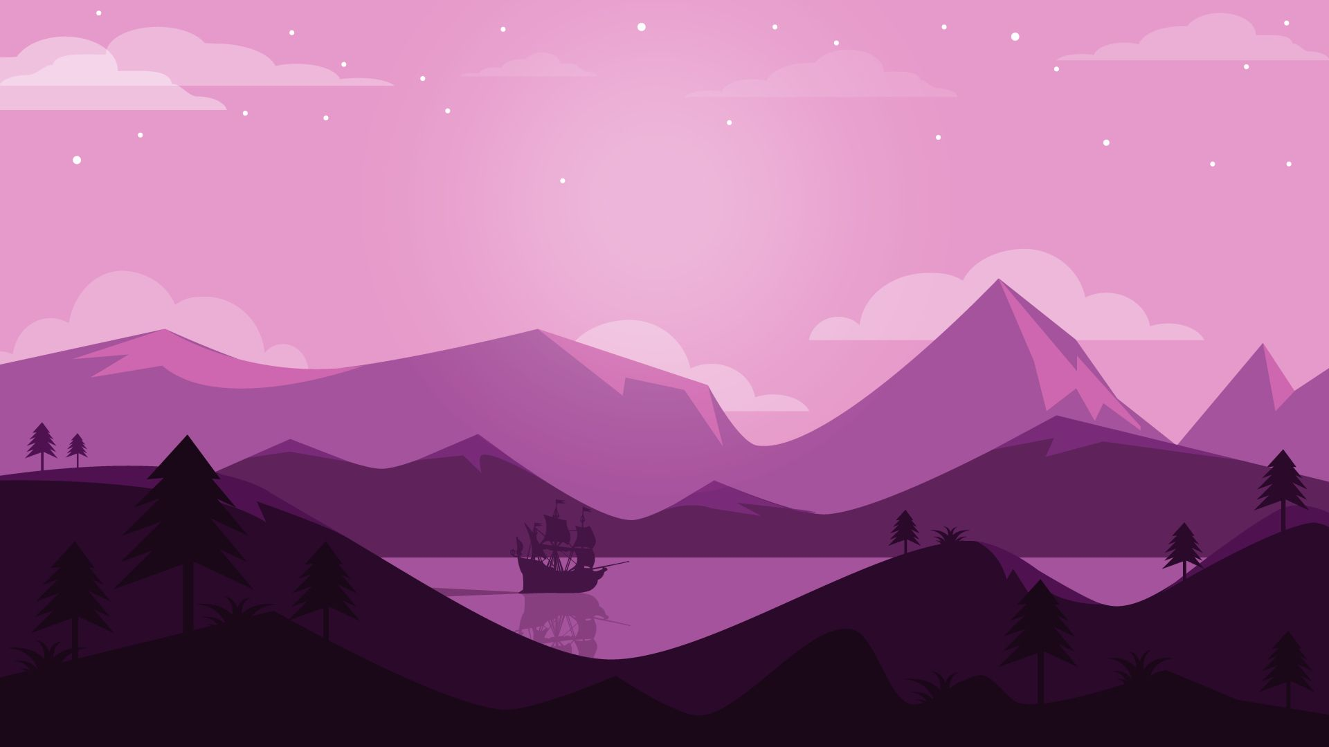 Free Mountain Vector wallpaper for computer