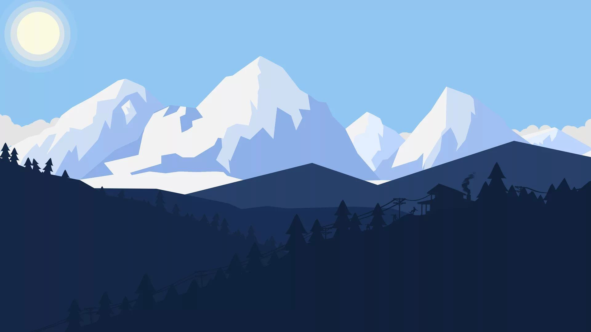 Free Mountain Vector background
