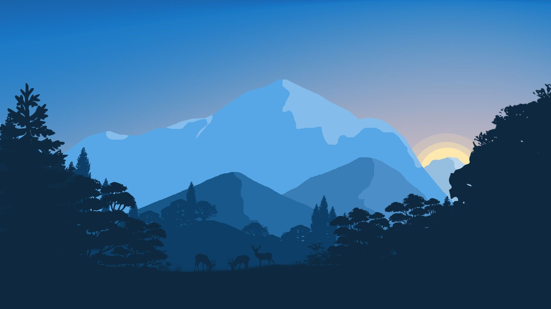 Free Mountain Vector wallpaper for laptop