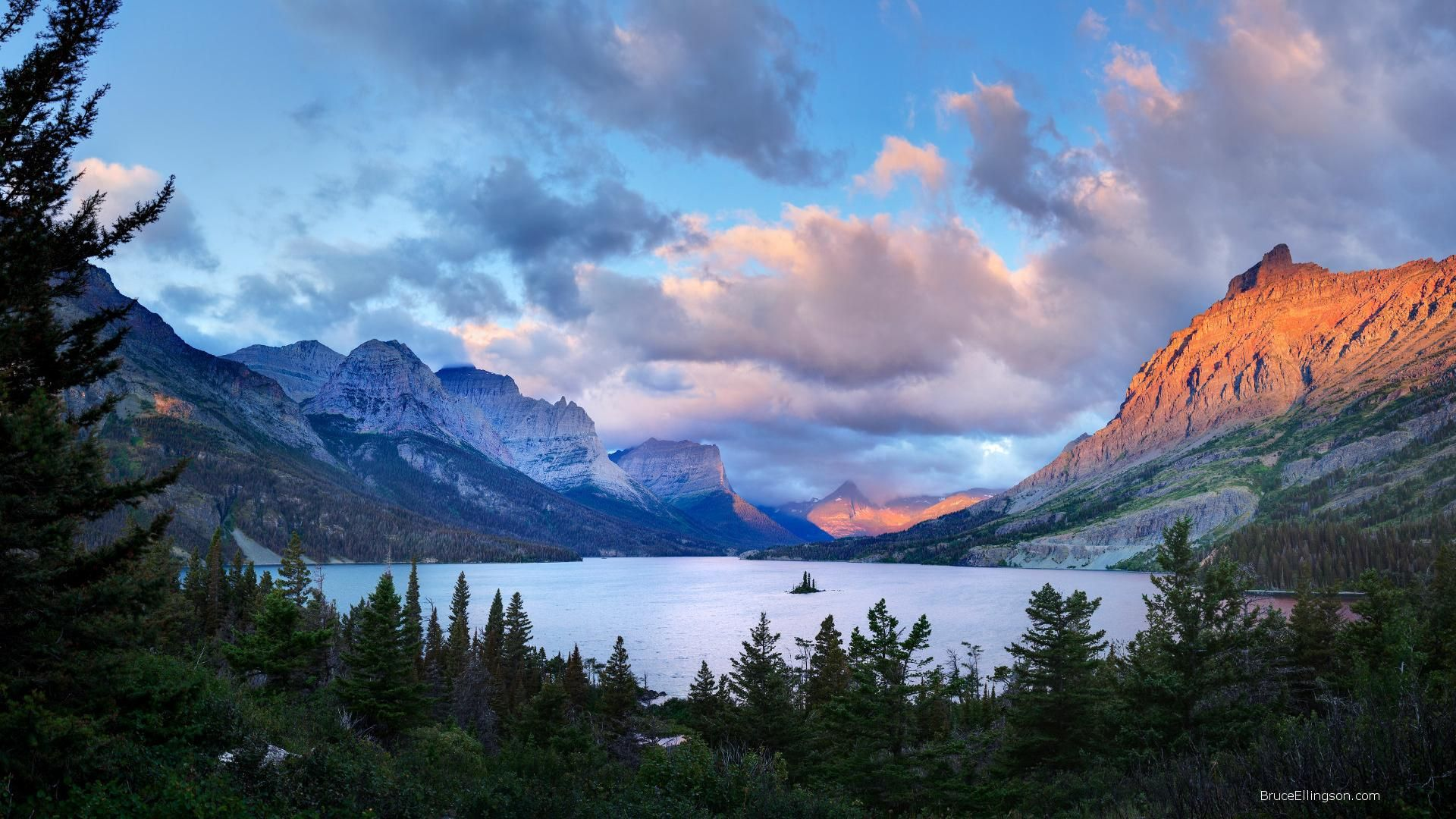 Glacier National Park laptop background wallpaper