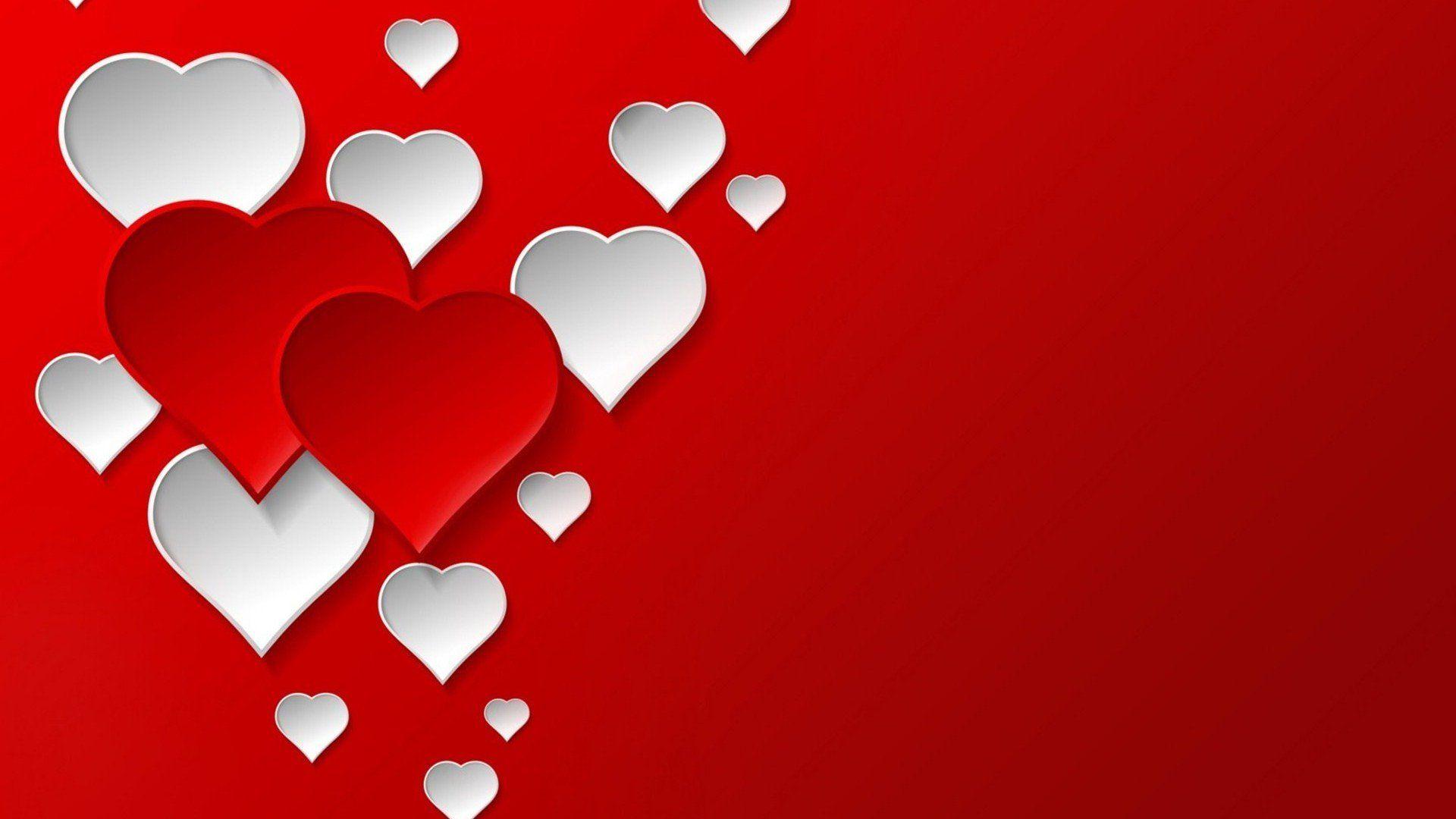 Heart laptop background