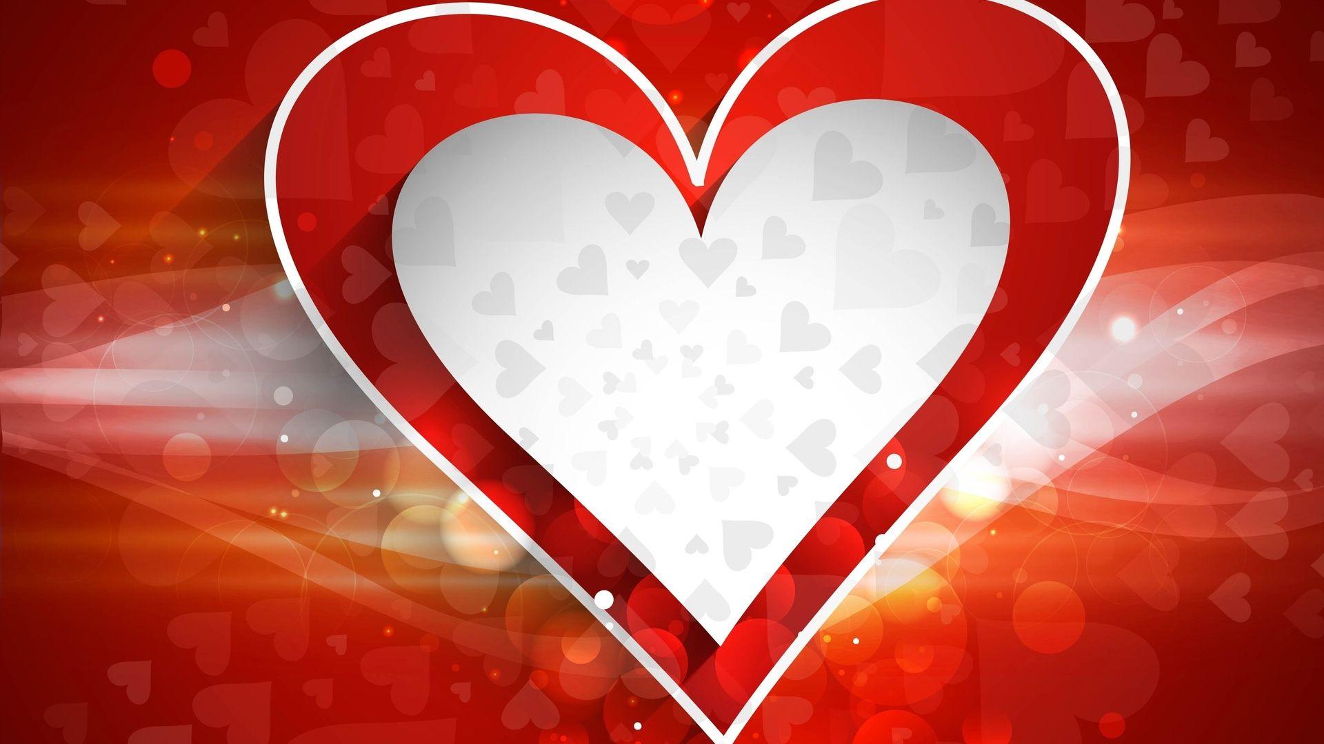 Heart laptop background wallpaper