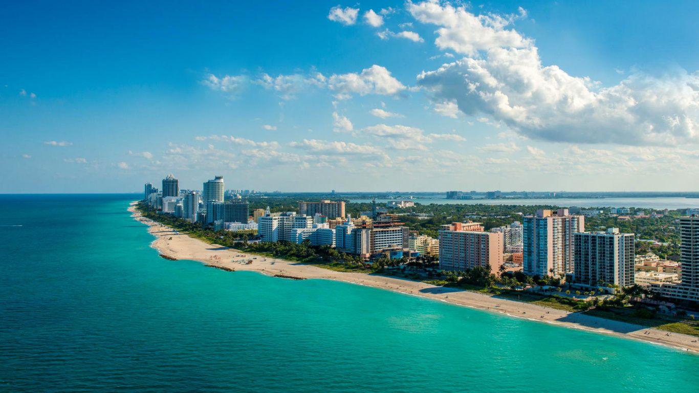 Miami computer background