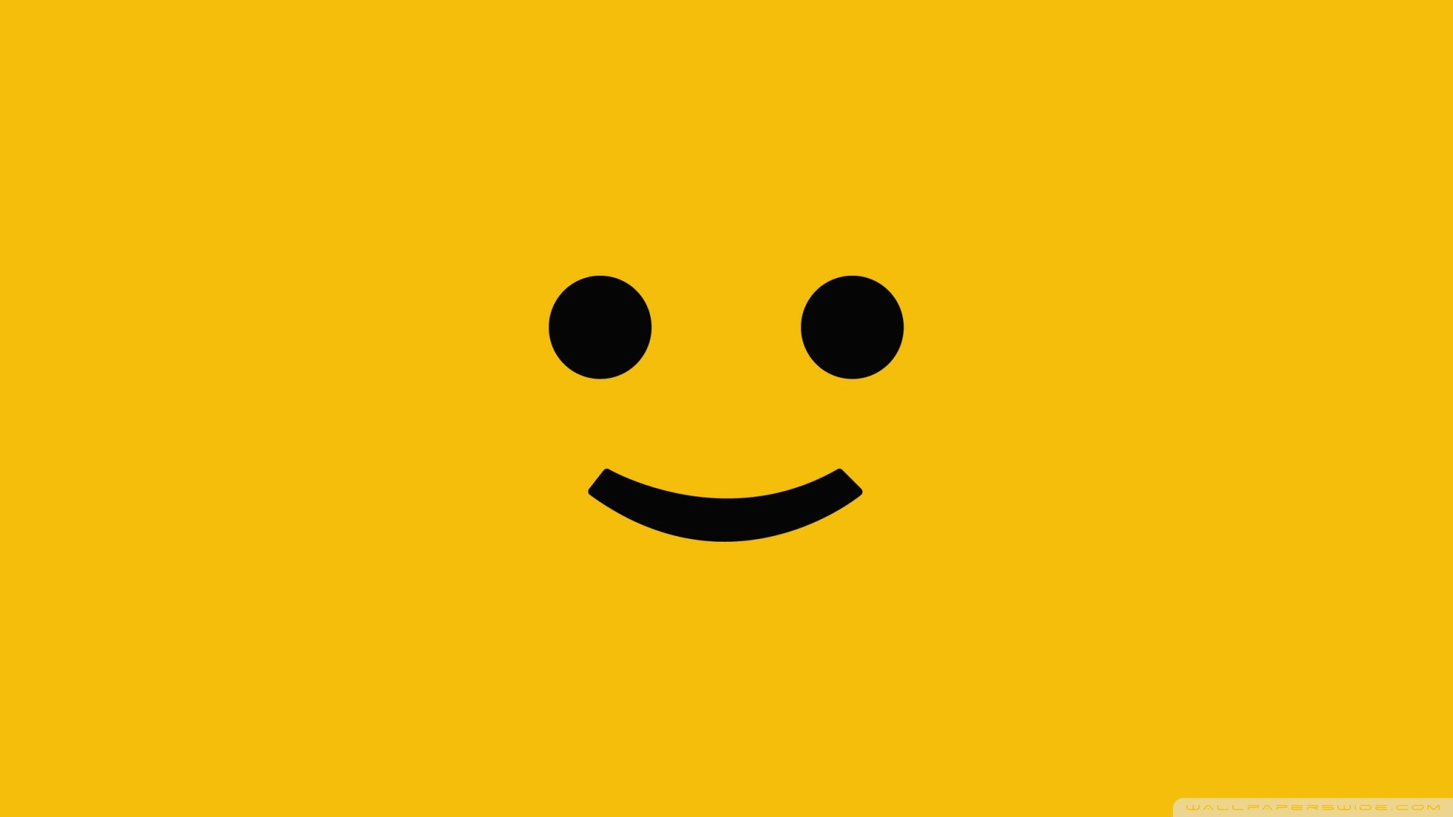 Smiley Face On A Yellow Background