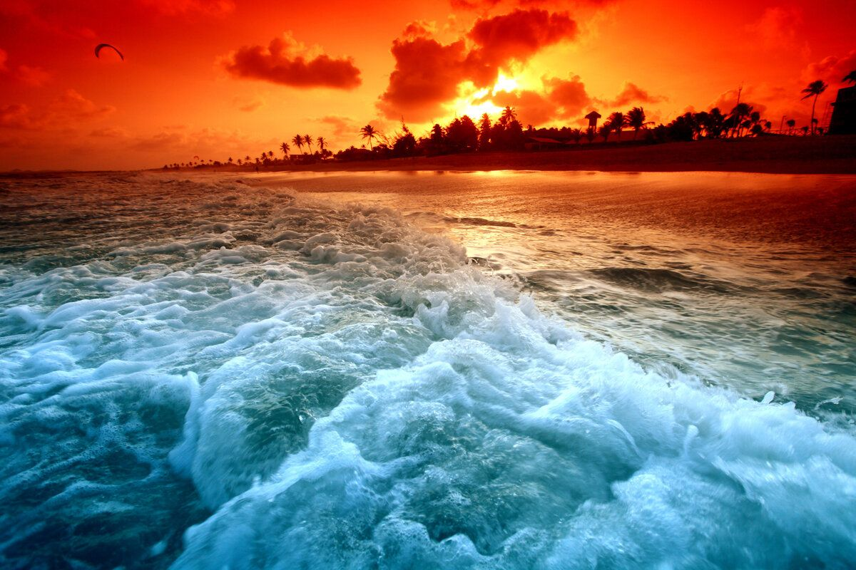 Sunset At Sea Pictures