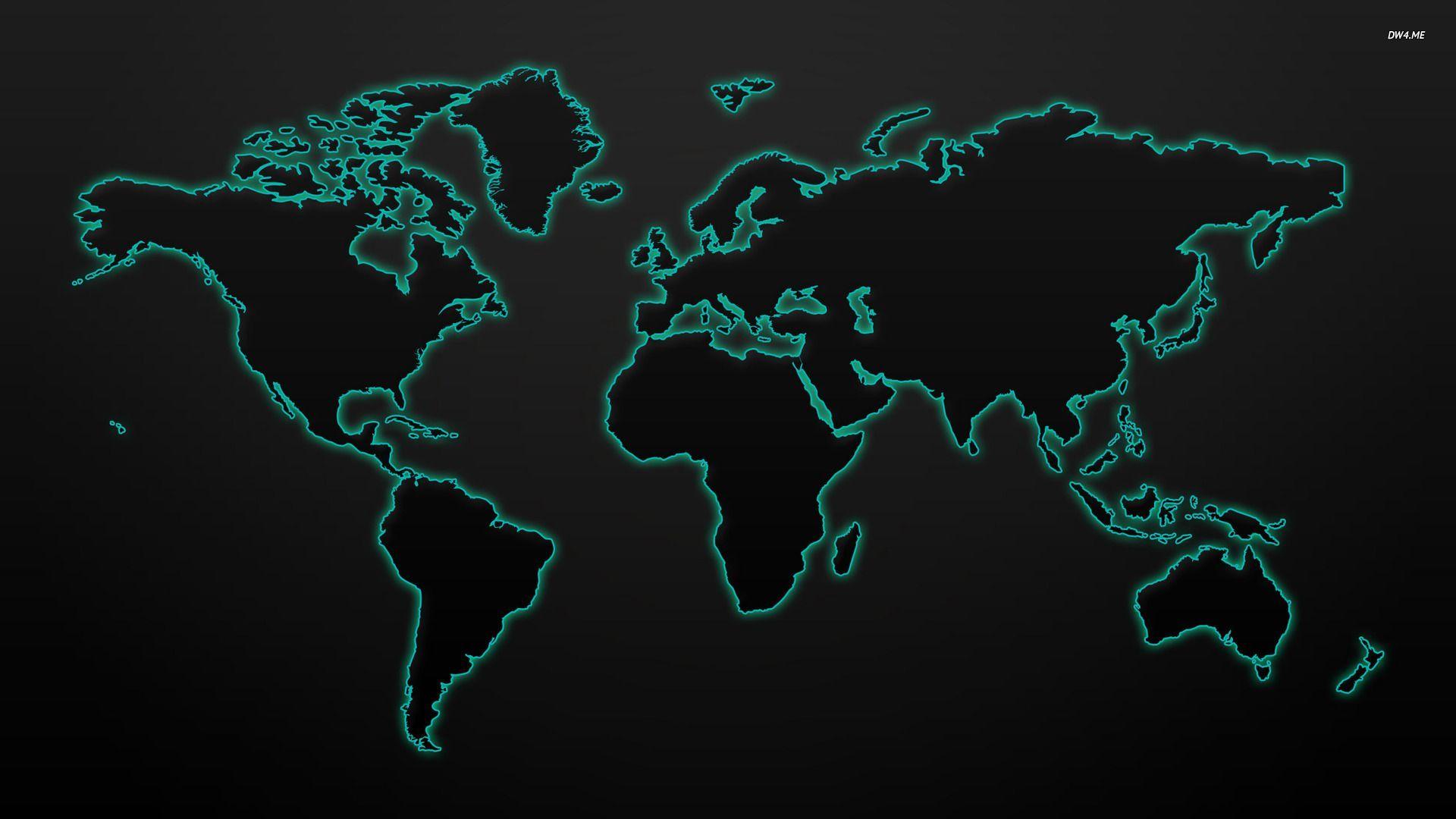 World Map computer wallpaper