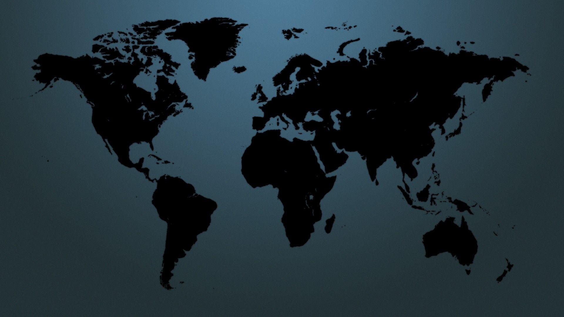 World Map laptop wallpaper