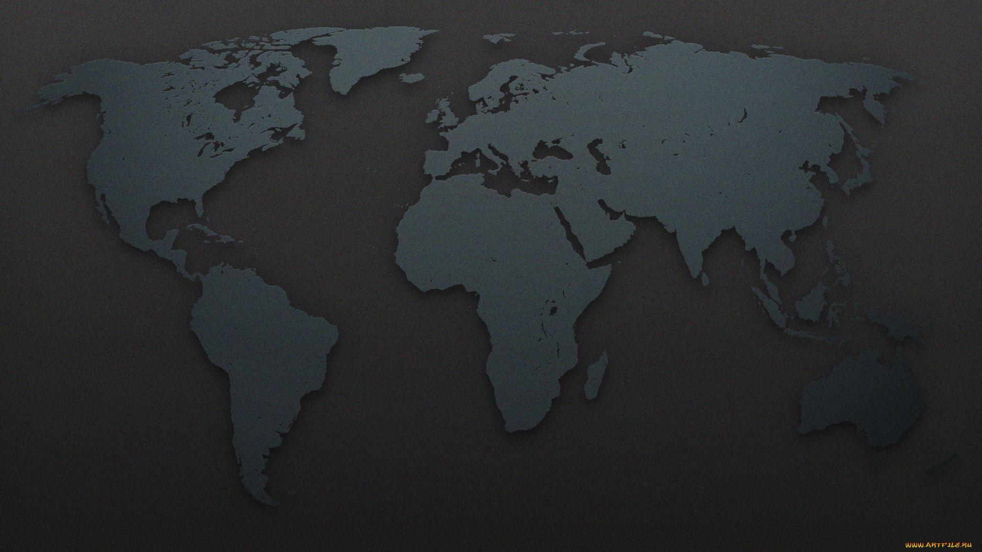 World Map background computer