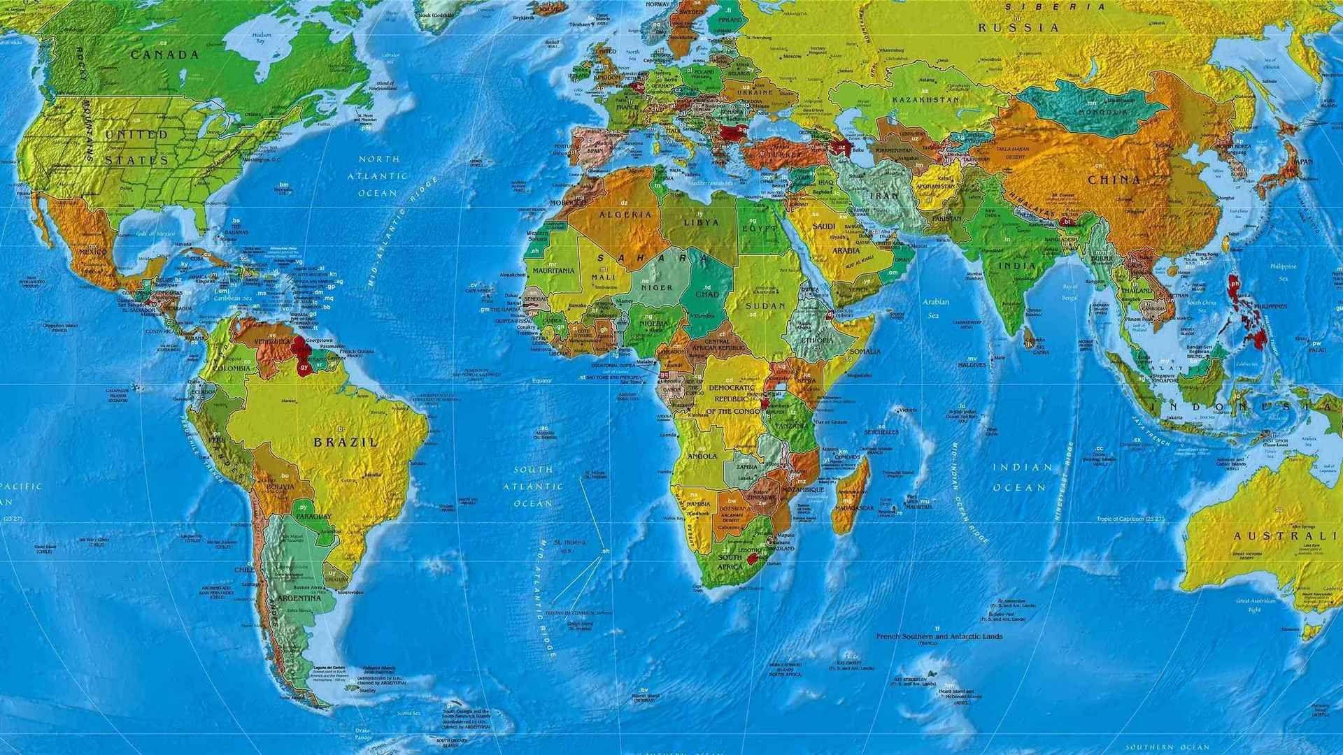 World Map wallpaper download