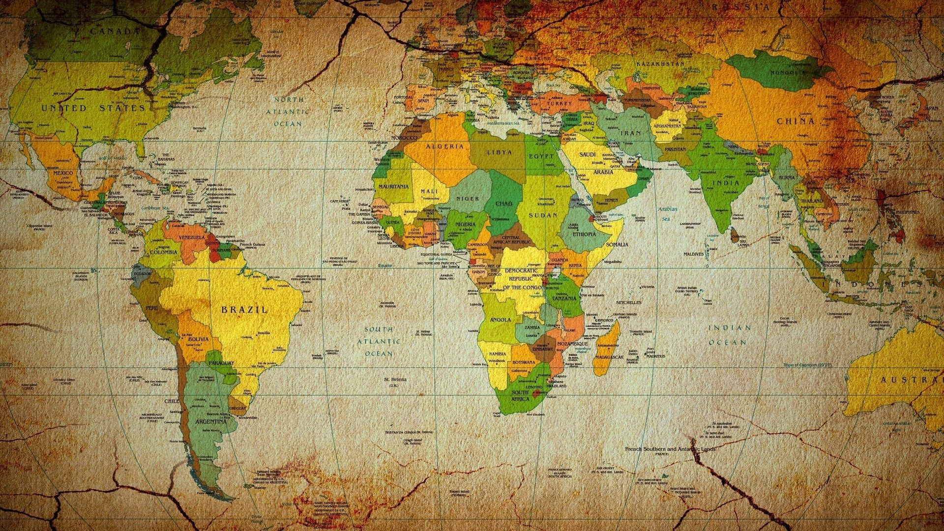 World Map desktop background