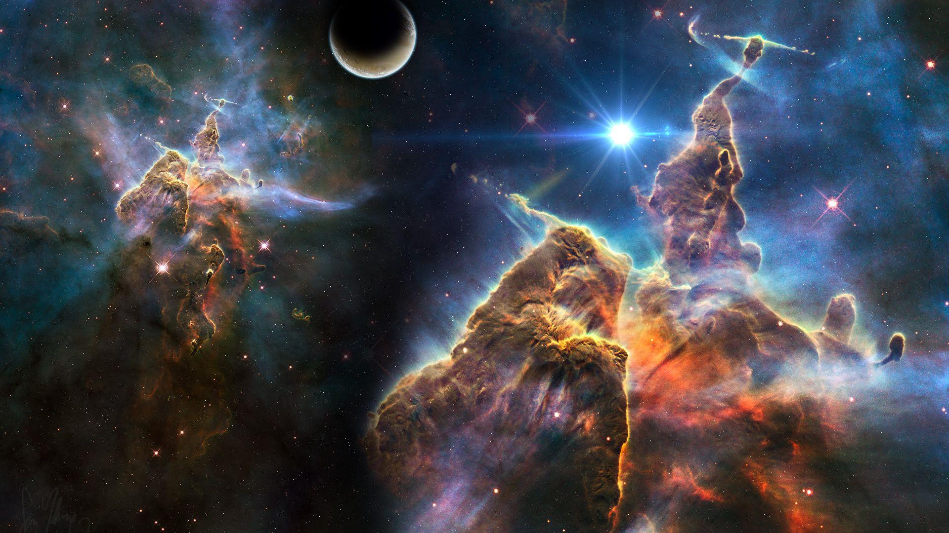 Astronomy laptop background wallpaper