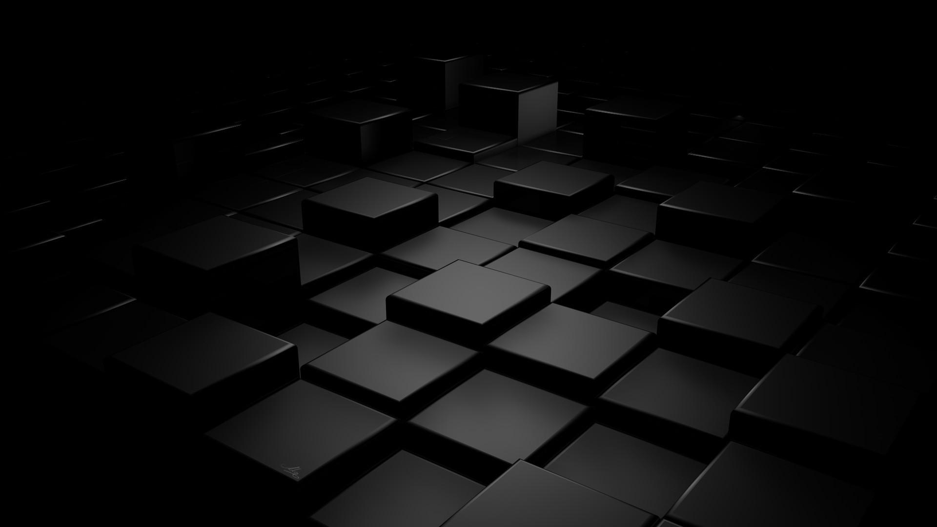 Black Abstract desktop wallpaper
